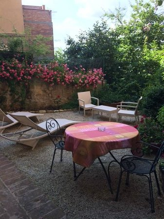 "Le Casine di Castello: Our private terrace at  ""Il Nido."""