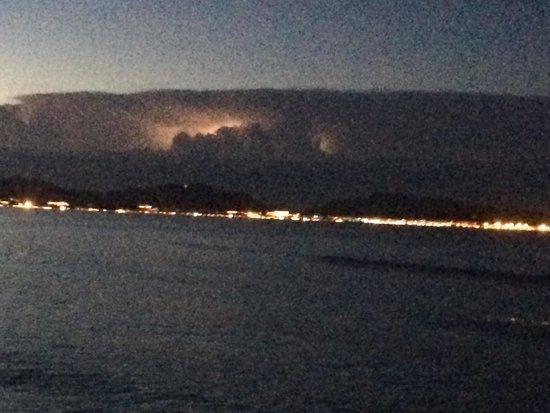 IBEROSTAR Albufera Playa: Evening storm over pollenca bay