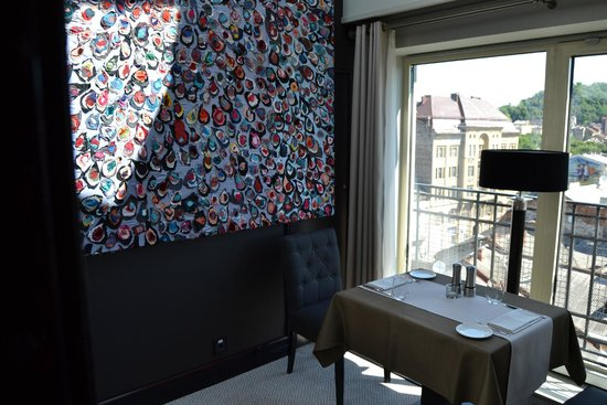 Astoria Hotel: A table for two on the top floor
