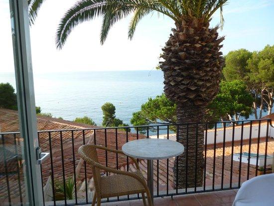 Silken Park Hotel San Jorge : chambre vue mer