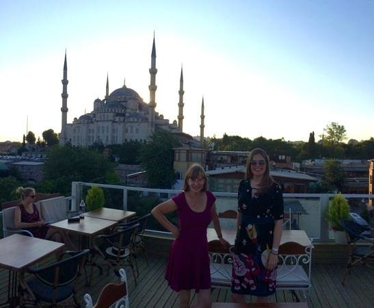 Sofa Cafe & Restaurant : the 'two ladies' and, yes, you guessed it..blue mosque