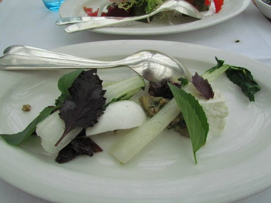 De Kas : Started dish: bok choy and fresh cheese