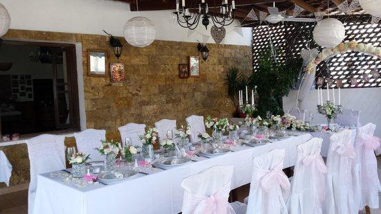 Windmill Restaurant: Joanne's wedding setup