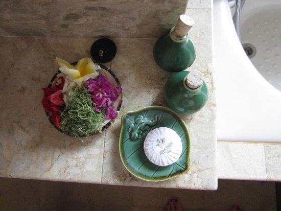 Alam Shanti: toletries in the bathroom