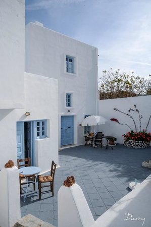 Aethrio Hotel : les terrasses individuelles