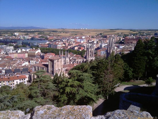 Castillo de Burgos: View of the Cathedral of Burgos from the castle