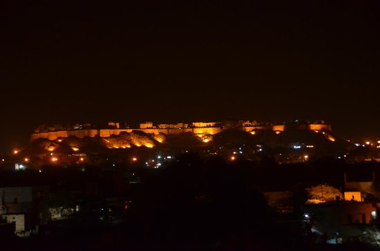 Jasmin Home: View of the `Golden Fort` at night