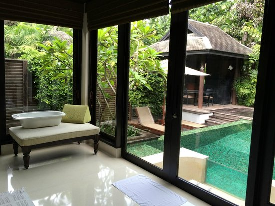 Anantara Mai Khao Phuket Villas: View from bathroom