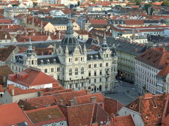 Grazer Schloßberg: Aussicht - Rathaus