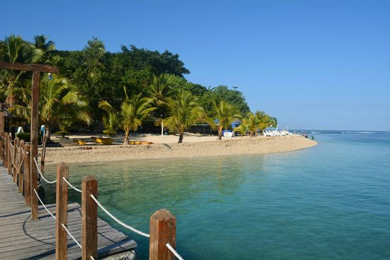 Hideaway Island Resort & Marine Sanctuary: The beach and snorkeling