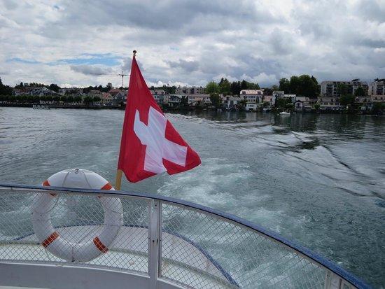 Lac Léman (Lac de Genève) : From an old steamer