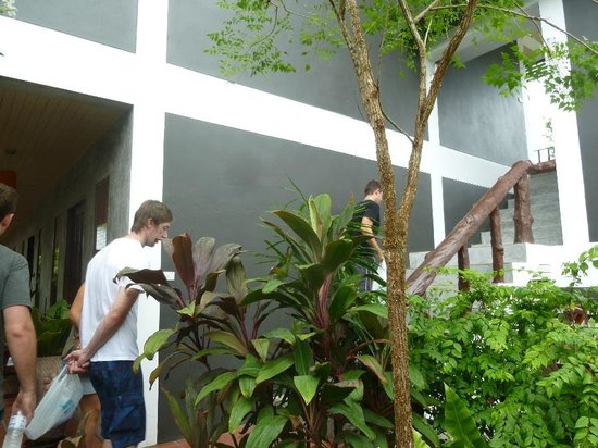 Phatchara Guest House: Stairs to upper level rooms