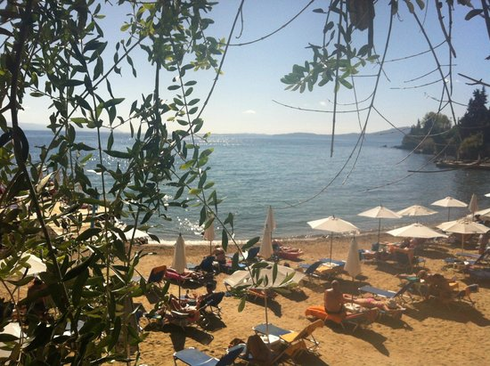 Aeolos Beach Resort : Having lunch at the beach taverna