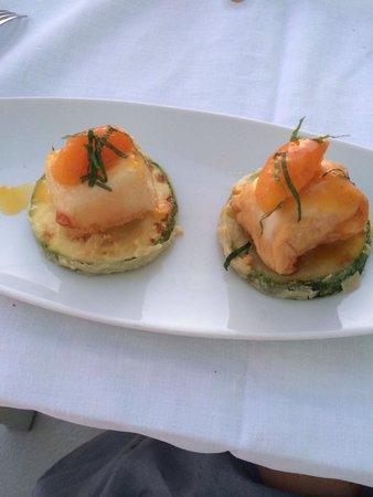 Grace Santorini Hotel: Zucchini cheese apricot