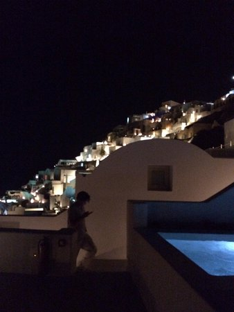 Grace Santorini Hotel: Night time
