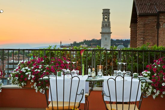 Due Torri Hotel: Panoramic Terrace & Gourmet Grill Restaurant