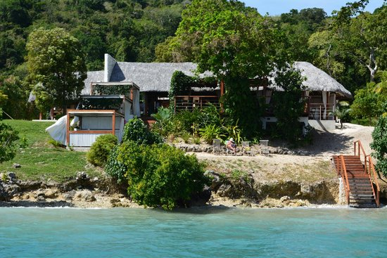 Francesca's Beach Club Bar Restaurant : This was taken on the water on our way to Lelepa Island which is also worth a visit.