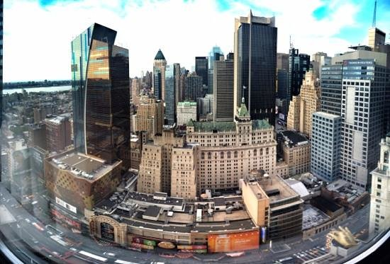 Hilton Times Square: Panoramic View From My Room