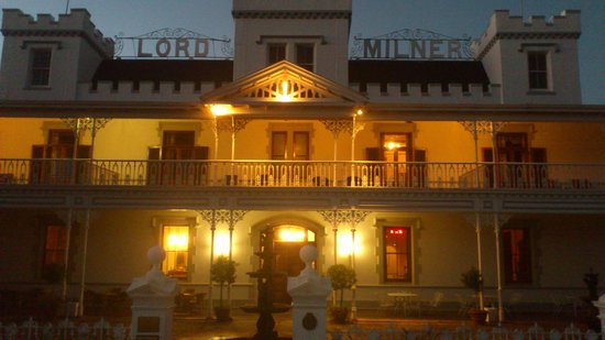 Lord Milner hotel at sunset