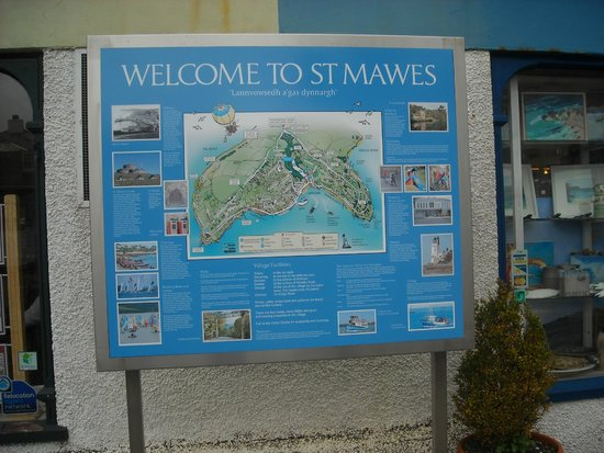 Roseland Visitor Centre : New information board for St Mawes