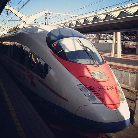 Sapsan Bullet Train: Сапсан в Москве