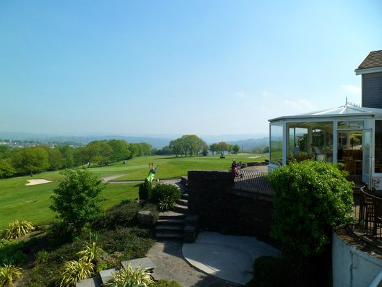 Bryn Meadows Golf, Hotel & Spa: View from room to dining room