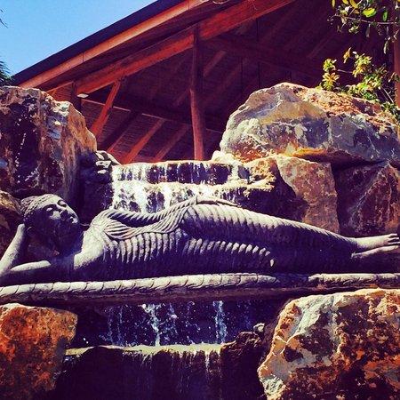 The Bodhi Tree Yoga Resort: Reclining Buddha waterfall