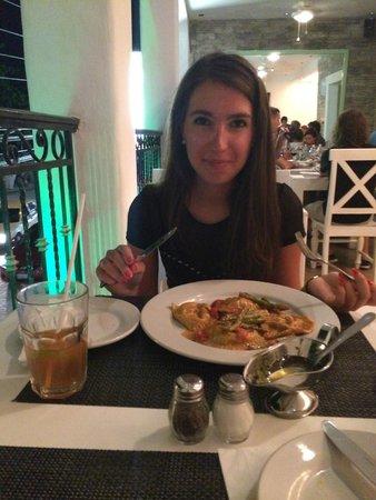La Famiglia: ravioli with asparagus