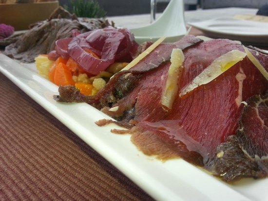 Rifugio La Roda: Carne salada confit di cervo e manzo