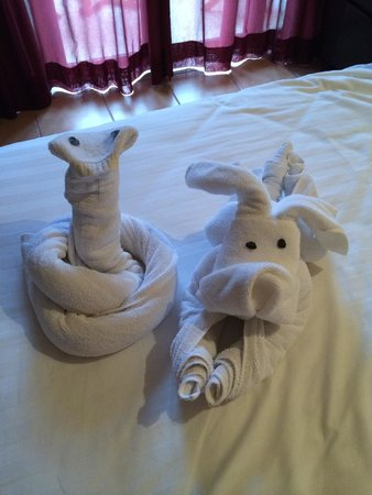 Club Med Bintan Island: serviettes animalières