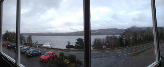 Loch Ness Clansman Hotel: Вид из окон ресторана