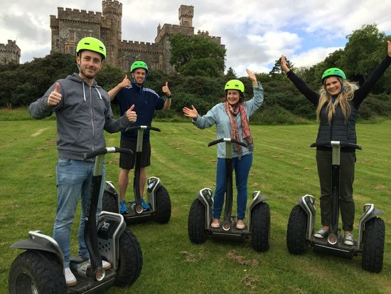 Segway Hebrides: Segway Gliders in front of the Lews Castle