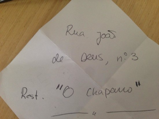 Taberna O Chaparro: Correct address