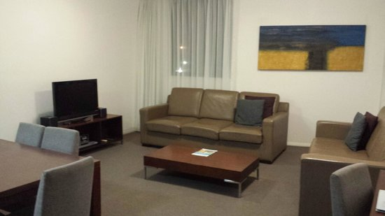 Mantra Wollongong: Living area in 2bedroom apartment