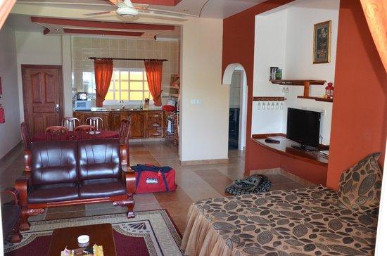 Au Fond de Mer View : Wohnküche Appartement 3