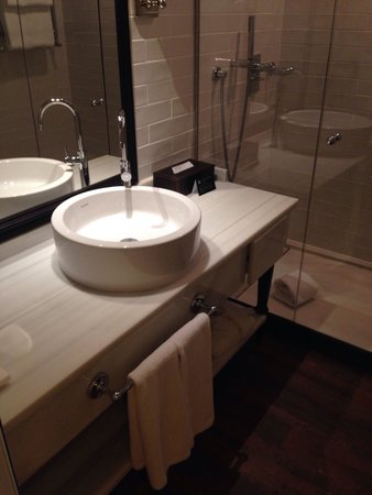 Only YOU Boutique Hotel Madrid: Bathroom - great water pressure! Awesome shower (rare in Europe)