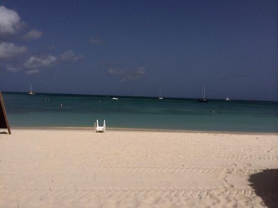 Marriott's Aruba Ocean Club: View from Palapa 216!