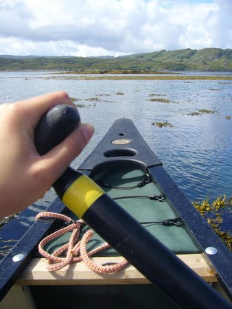 Wilderness Guides Day Tours: Canoeing in Loch Moidart