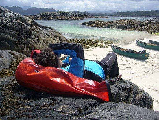 Wilderness Guides Day Tours: Snady beach near the Atlantic Sea (Loch Moidart)