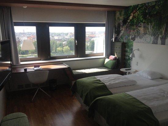 Scandic Copenhagen : Trevligt rum med fantastisk utsikt!