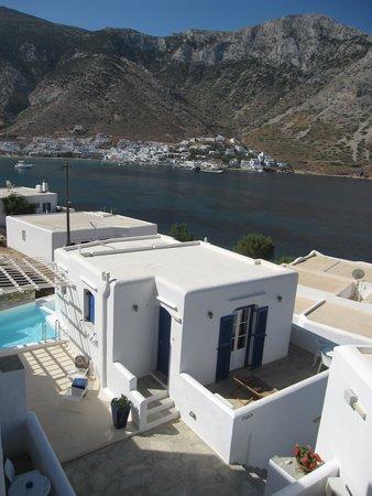 Delfini Hotel Sifnos: Blick von Zimmerterrasse