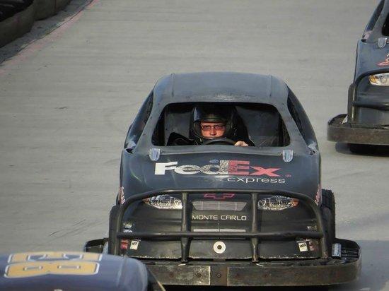 NASCAR SpeedPark Smoky Mountains : Me driving the 3/8 size Nascar karts