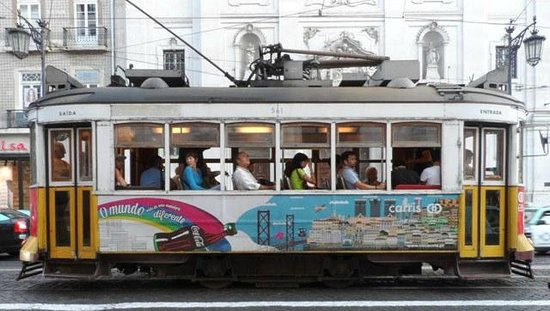 Famous Tramway Line 28 at Bairro Alto