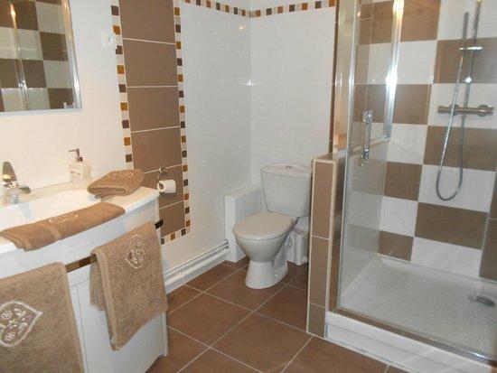 Saint-Julien, França: salle de bain de la chambre pour 2 ou 3 personnes