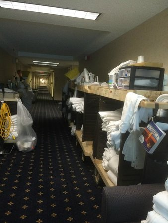 Clarion Hotel Historic District : housekeeping central