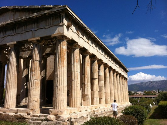 Temple d'Héphaïstéion : the magical temple, so beautiful