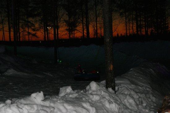 Santa Claus Holiday Village: il tramonto intorno alle ore 14