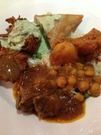 Bollywood Brasserie: a plate from the buffet