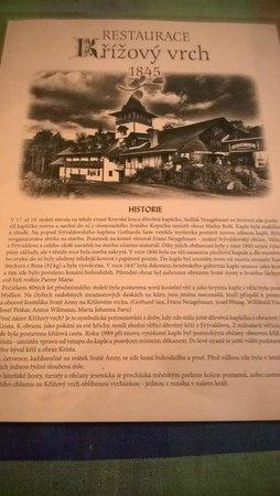Restaurant Krizovy Vrch: Restaurant history