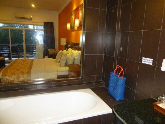 Serendipity Beach Resort: Bath with a view